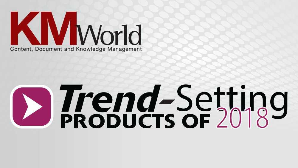VoyagerODN, Featured as KMWorld Trend-Setting Product of 2018